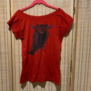Marc by Marc Jacobs red owl tee